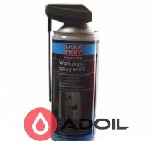 Грязеотталкивающая белая смазка Liqui Moly Pro-Line Wartungs-Spray weiss