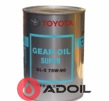 Toyota Gear Oil Super 75W-90 08885-02106