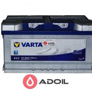 Varta 580406074 80Ач 740А (0) Blue Dynamic F17