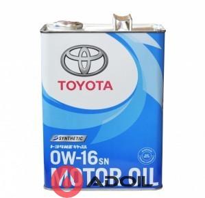 Toyota Motor Oil 0W-16 08880-12105