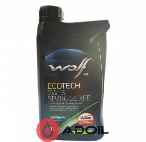 Wolf Ecotech 0w-16 Sp/Rc G6 Xfe