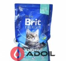 Корм сухий Брит Преміум Кет Аурум для кішок з чутливим травленням Ягня і рис