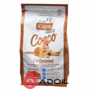 Корм сухой Брит Кэр Кэт Коко для привередливых кошек Утка и лосось