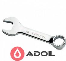 Ключ рожково-накидной короткий 18мм TOPTUL AAAF1818