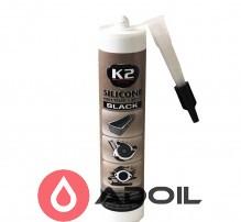 Герметик K2 SILICONE BLACK (BLACK SILICON +350С)