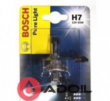 Автолампа H7 12V/55W/PX26d Blister Bosch