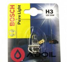 Автолампа H3 12V/55W/PK22s Bosch